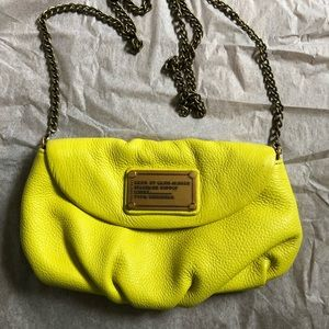 Marc Jacobs Citron Yellow Clutch / Crossbody Bag